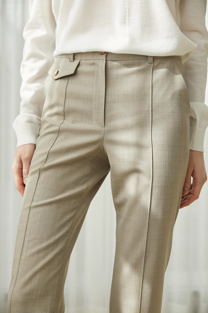 Numero 038: Pocket detail Wool Slacks (3 colors)